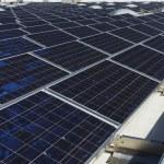 Solar Panels at Solar Power Plant — Stock Photo
