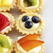 Stock Photo: Mini fruit cupcakes