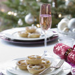 Stock Photo: Mince pies on plate on dining table