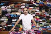 Fabric Store Worker — 图库照片