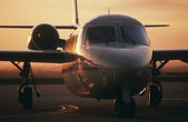 Westwind jet on tarmac — Stock Photo