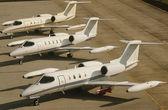 Jet plains at airport — Stock Photo