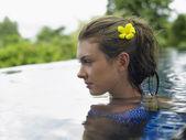 Woman in Swimming Pool — Stock Photo