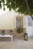 Terrace of colonial style house — Stock Photo
