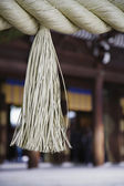 Tassel on Rope at Meiji Shrine — Stock Photo