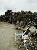 Piles of rubbish in scrapyard — Stock Photo