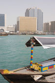 Abra docked in Bur Dubai — Stockfoto