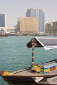 Abra docked in Bur Dubai — 图库照片