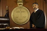 Judge in a courtroom — Stock Photo