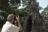 Man Photographing Temple — Stock Photo