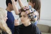 Models Being Prepared for Photo Shoot — Stock Photo