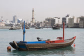 Boat on Dubai Creek — Stock Photo