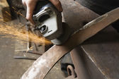 Blacksmith Grinding — Stock Photo
