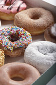 Variety of doughnuts — Foto Stock