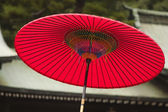 Traditional red umbrella — Foto Stock