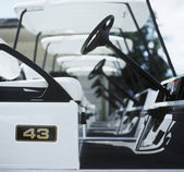 Golf carts — Stockfoto