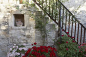 Courtyard of Mediterranean village house — ストック写真