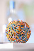 Rubber bands in ball — Stock Photo
