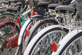 Parked Bicycles — Stock Photo