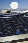 Solar Panels and Satellite Dish — Stock Photo