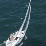 ������, ������: Crew members on sailboat