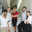 Serious Business People on Stairs — Stock Photo #33908815