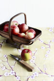 Apples on table — Stock Photo