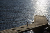Pier on lake — Stock Photo