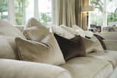 Cushions on sofa — Stockfoto