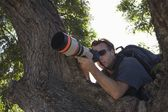 Fotógrafo paparazzi — Fotografia Stock