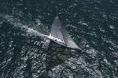 Sailboat on competition — Foto de Stock