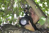Paparazzi fotograaf — Stockfoto