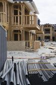 New homes under construction — Stock Photo