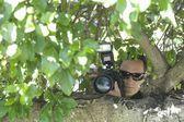 Fotógrafo paparazzi — Foto Stock
