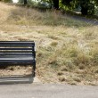 Park bench at park — Foto Stock