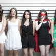 Stock Photo: Women in police lineup