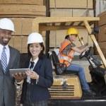 Happy multiethnic engineers — Stock Photo #33984585
