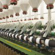 Stock Photo: Spinning factory machinery