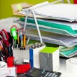 Stock Photo: Real life messy desk in office