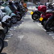 Stock Photo: Motor bikes parked