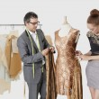 Fashion designers working together — Stock Photo #33987665