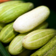 Cucumbers in supermarket — Stock Photo