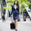 Indibusinesswomwith luggage — Stockfoto #33988227