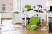 Ransacked office — Stock Photo