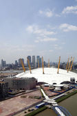 Arena and Canary Wharf Skyline — Stock Photo