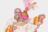 Senior couple in Brazilian outfits — Stock Photo