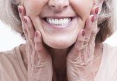 Senior dentures — Stock Photo