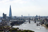 Tower Bridge, The Shard, and St Pauls — Stock Photo
