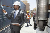 African American male engineer — Stock Photo
