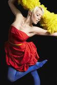 Vrouw dansen — Stockfoto